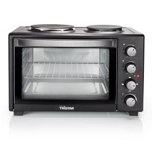 Miniküche: Ofen mit 2 Kochplatten Tristar OV- 1442 im Detail-Check